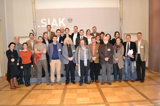 The participants of the High Profile Workshops in january 2013 in Vienna.